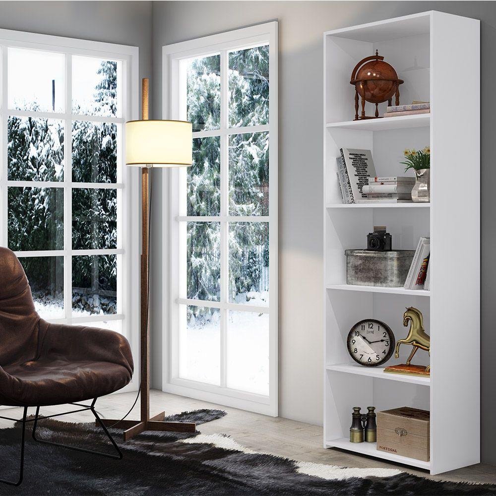 Armário Livreiro Multiuso  Branco - Art In Móveis