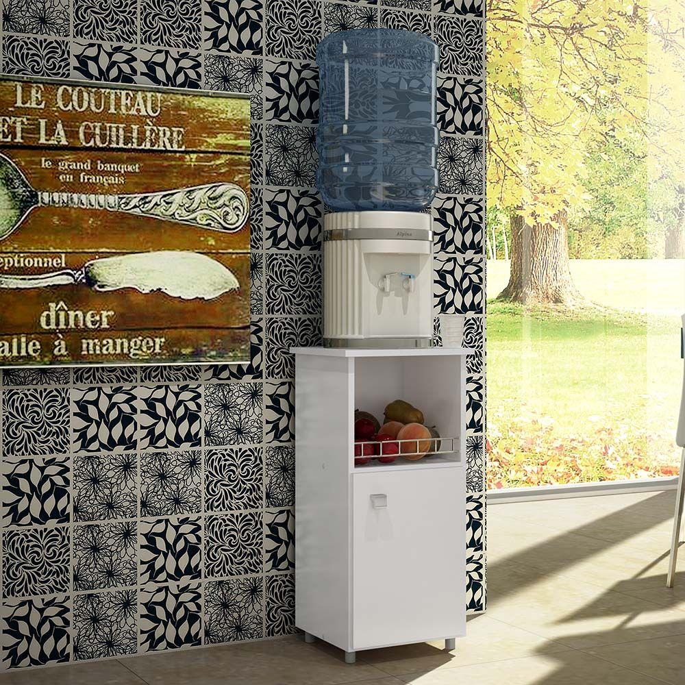 Balcão Fruteira Milena Com 1 Porta Branco - Art In Móveis