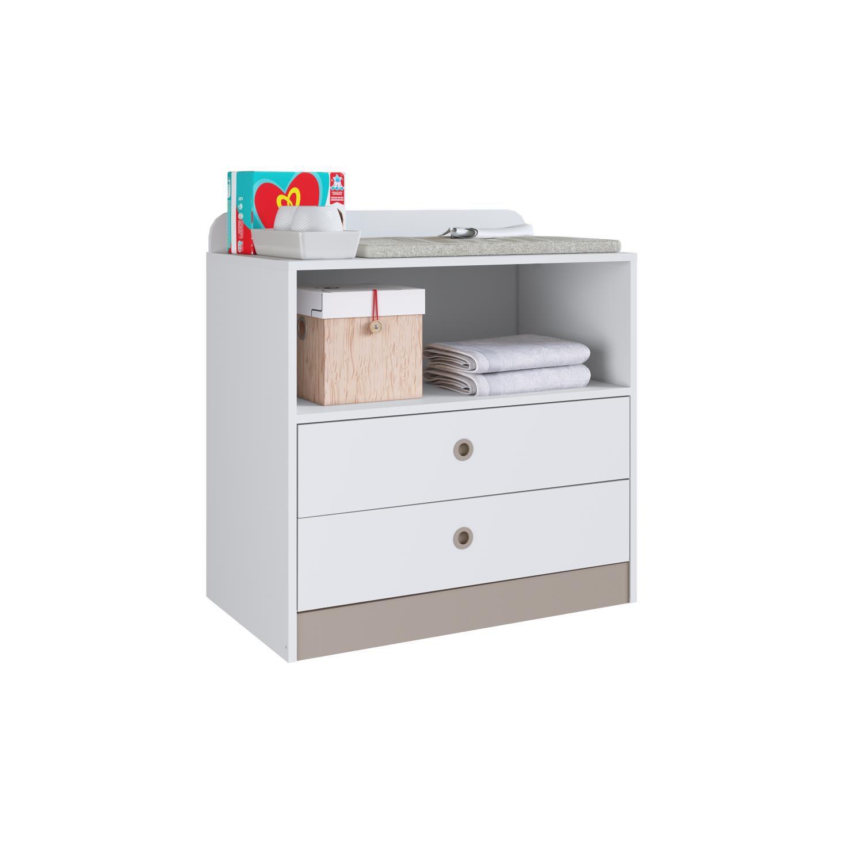 Berço Cama com Cômoda, Trocador e Escrivaninha Fofura Branco - Art in Móveis