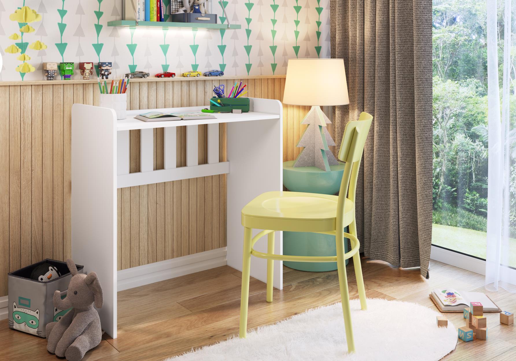 Berço Infantil Bedside Sleepers Escrivaninha Soninho Branco - Art in Móveis