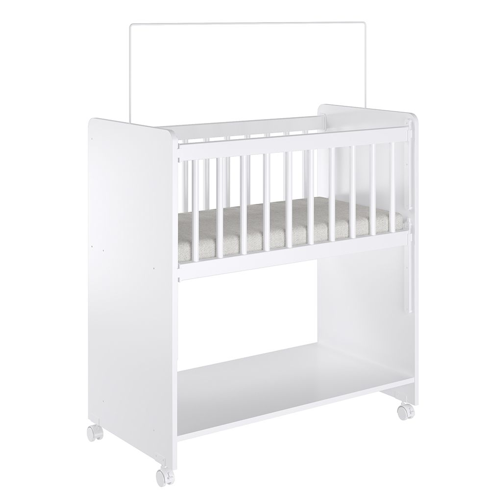 Mini Berço Infantil Bedside Sleepers Soninho Branco - Art In Móveis