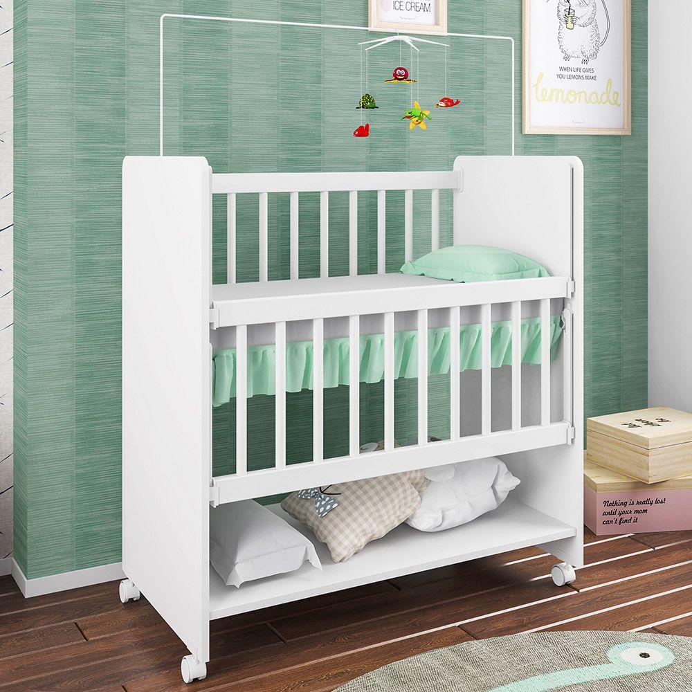 Berço Infantil Bedside Sleepers Soninho Branco - Art In Móveis
