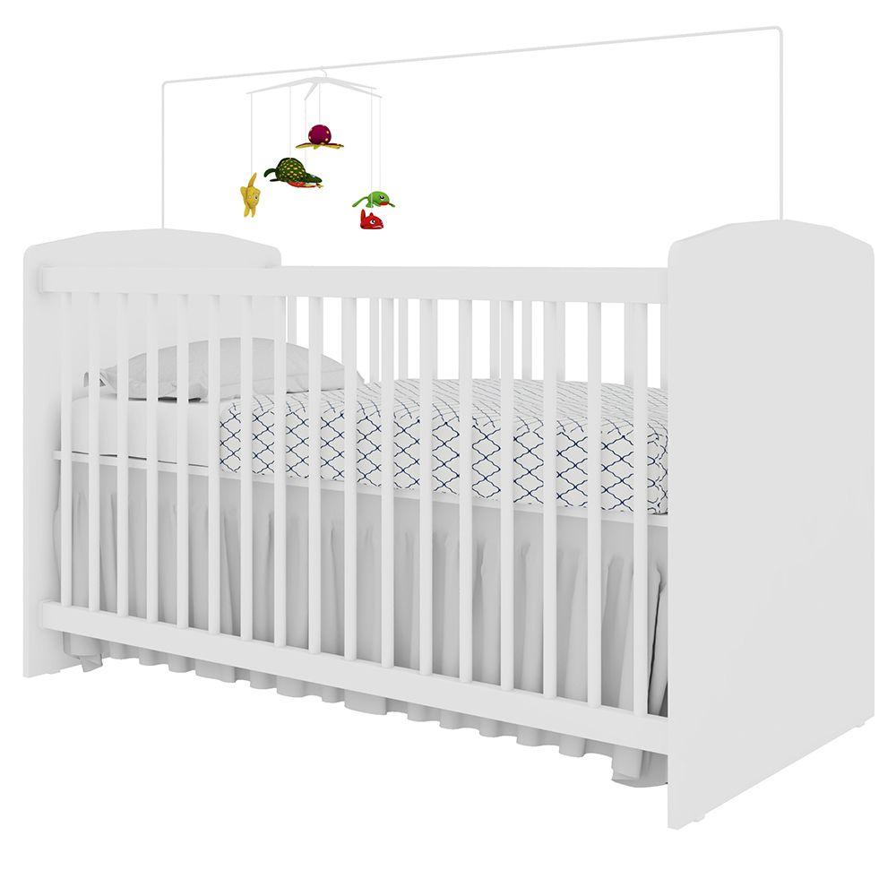 Berço Infantil Multifuncional 4 X 1 Ternura Branco - Art In Móveis