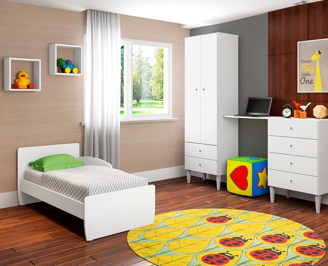 Berço Mini Cama Docinho Infantil Branco - Art In Móveis