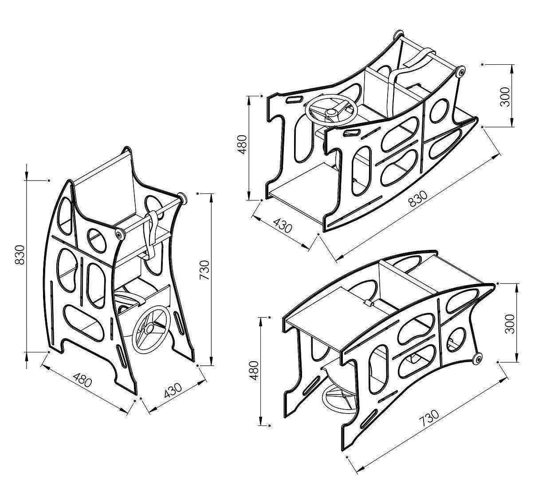 Cadeira Mágica bebê portátil multifunção 5x1-alimentação, balanço, carrinho e mesinha-Art In Móveis