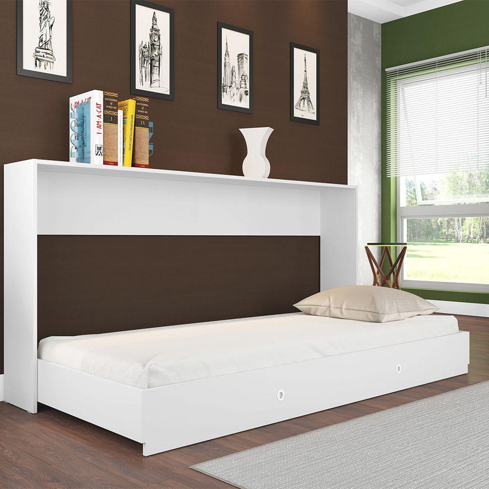 Cama Articulável Quarto Solteiro 80 Sun Branco - Art In Móveis