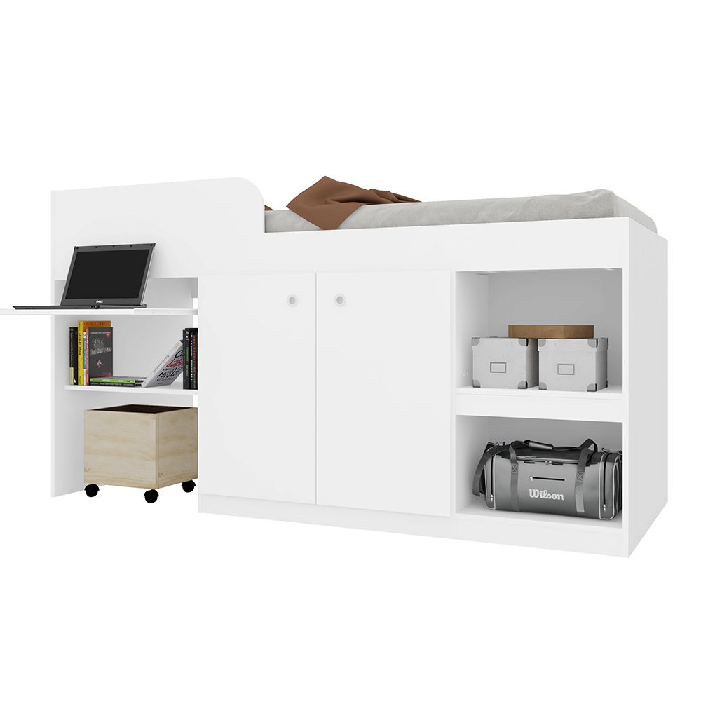 Cama Multifuncional Juvenille 80 Branco - Art In Móveis