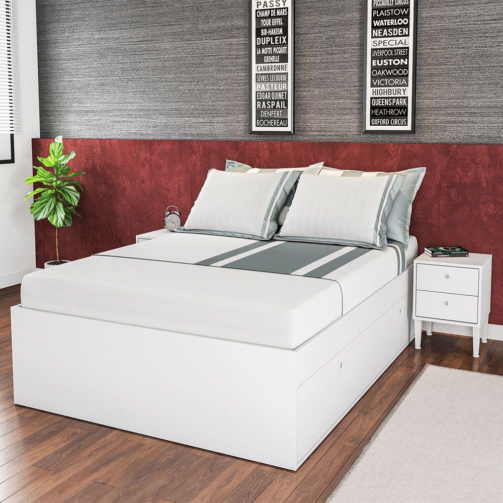a8d789b1eb Comprar Cama Quarto Casal 4 Portas Tókio Branco - Art In Móveis