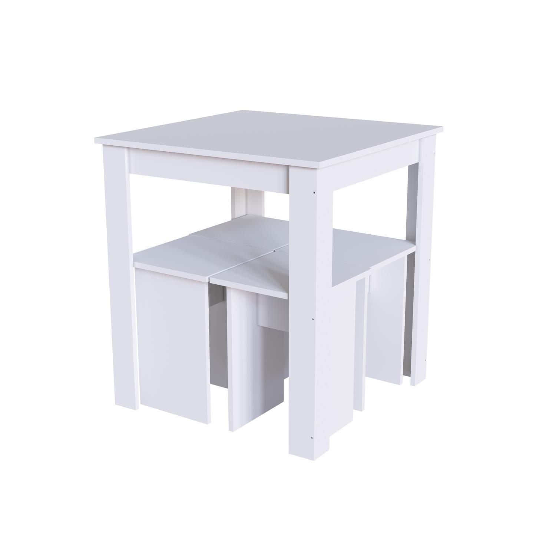 Conjunto Mesa e Banqueta Amalfi Branco - Art In Móveis