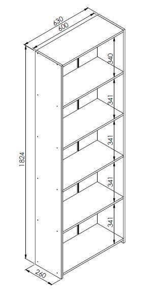 Módulo organizador Multiuso Funcionale Preto - Art In Móveis