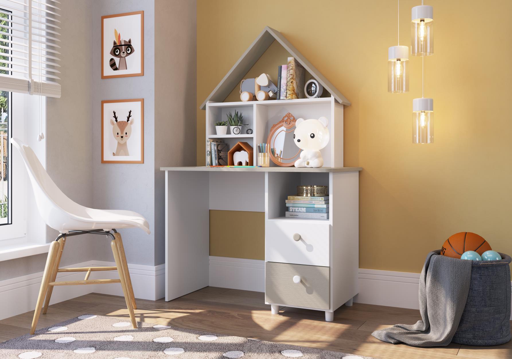 Escrivaninha para Estudo Children´s House Branco - Art In Móveis