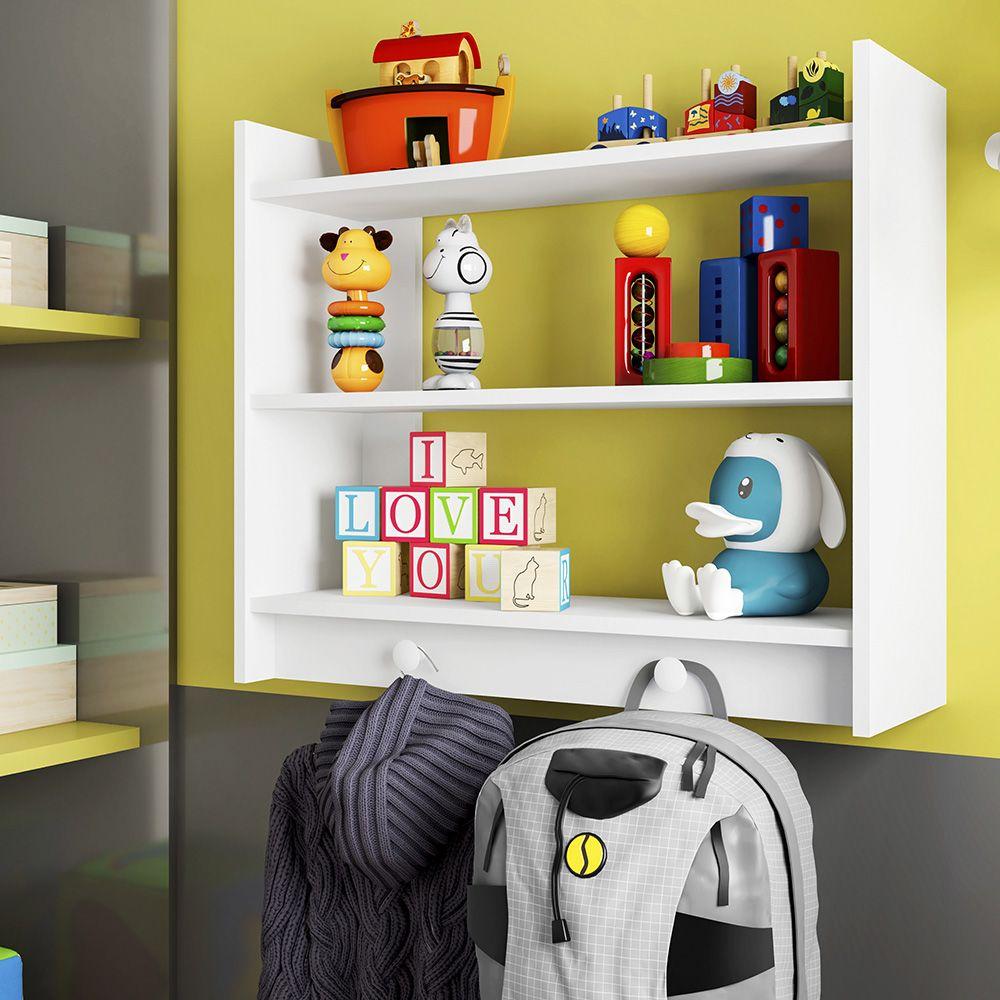 Estante Infantil Parede Montessoriano Branco - Art In Móveis
