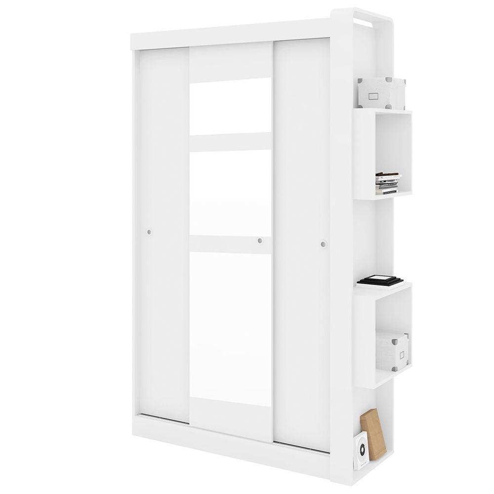 Guarda Roupas Doce Cheiro 3 Portas Correr Com Espelhos Branco - Art In Móveis