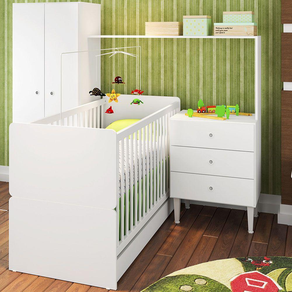 Guarda Roupas Infantil Multifuncional Compacto Meu Fofinho Branco - Art In Móveis