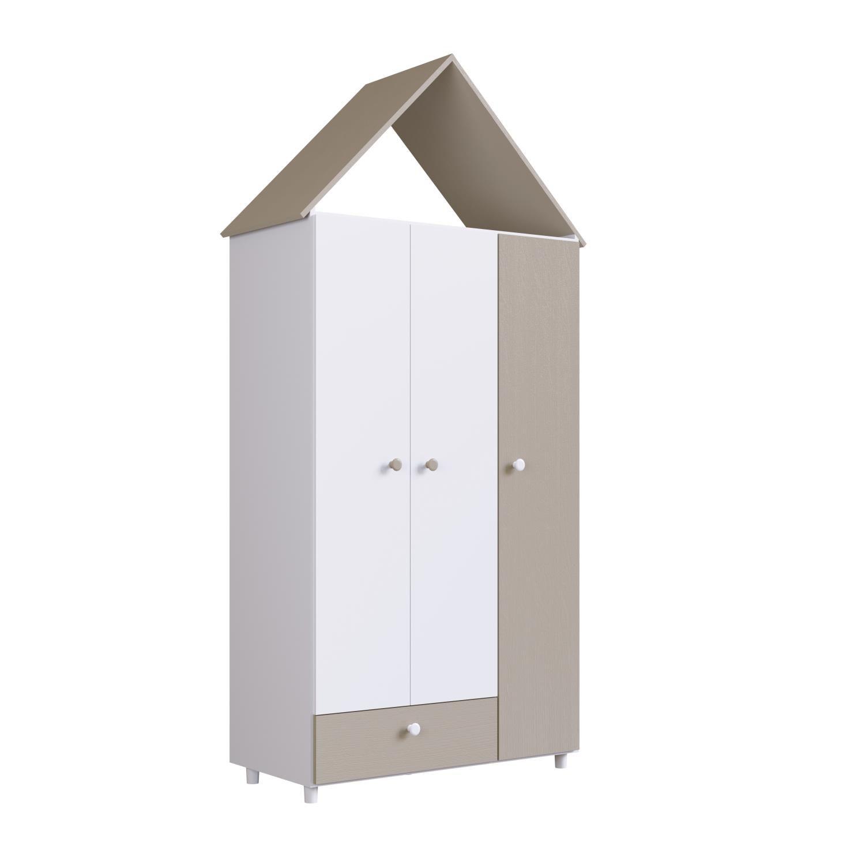 Guarda Roupas Infantil 3 Portas e 1 Gaveta Children´s House Branco - Art In Móveis
