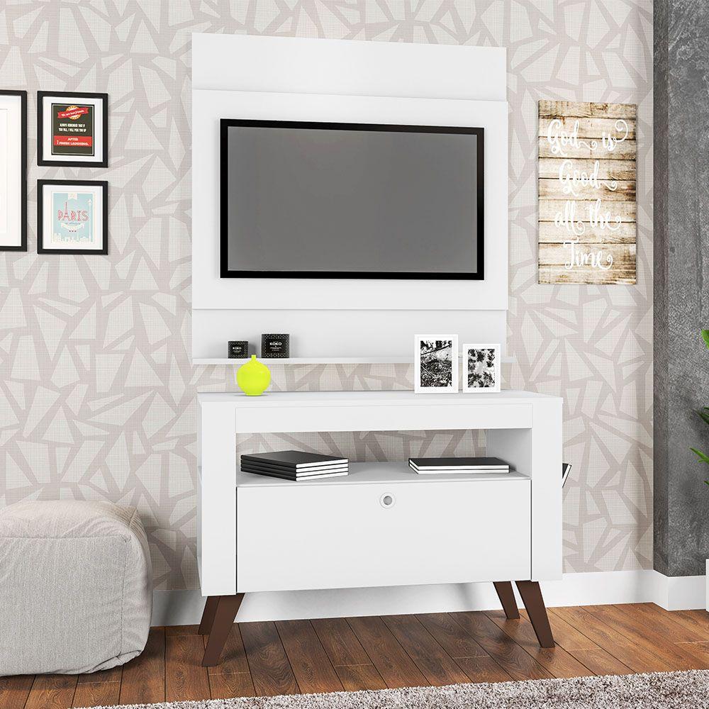Home Rack Bancada e Painél TV até 36' Canadá Branco - Art In Móveis