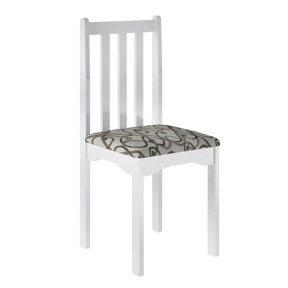 Jogo Firenze 2 Cadeiras Branco - Art in Móveis