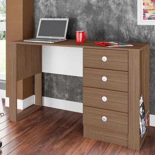 Mesa Para Computador Escrivaninha Londres Montana - Art In Móveis