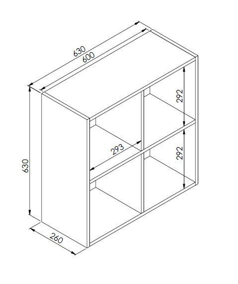 Nicho de Parede Organizador Multiuso Funcionale Preto - Art In Móveis