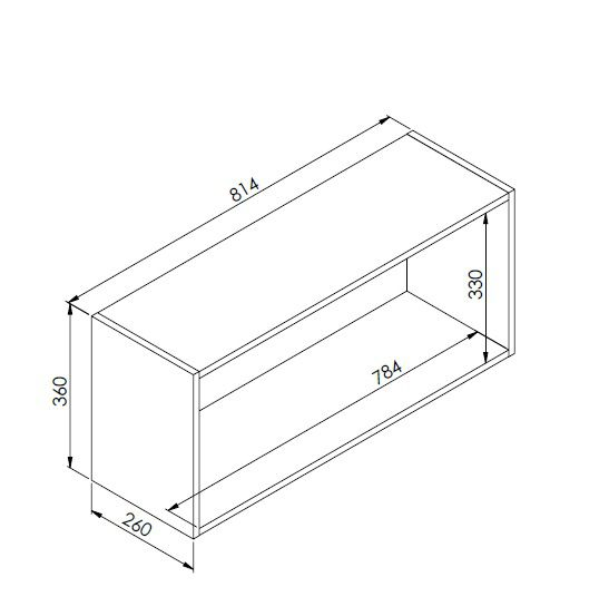 Nicho Horizontal Organizador Multiuso Funcionale Branco - Art In Móveis