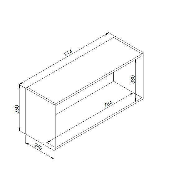 Nicho Horizontal Organizador Multiuso Funcionale Preto - Art In Móveis