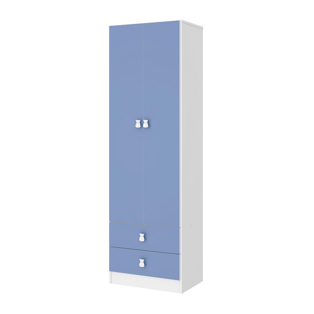 Guarda Roupa Meu Fofinho 2 Portas 2 Gavetas Azul - Art In Móveis