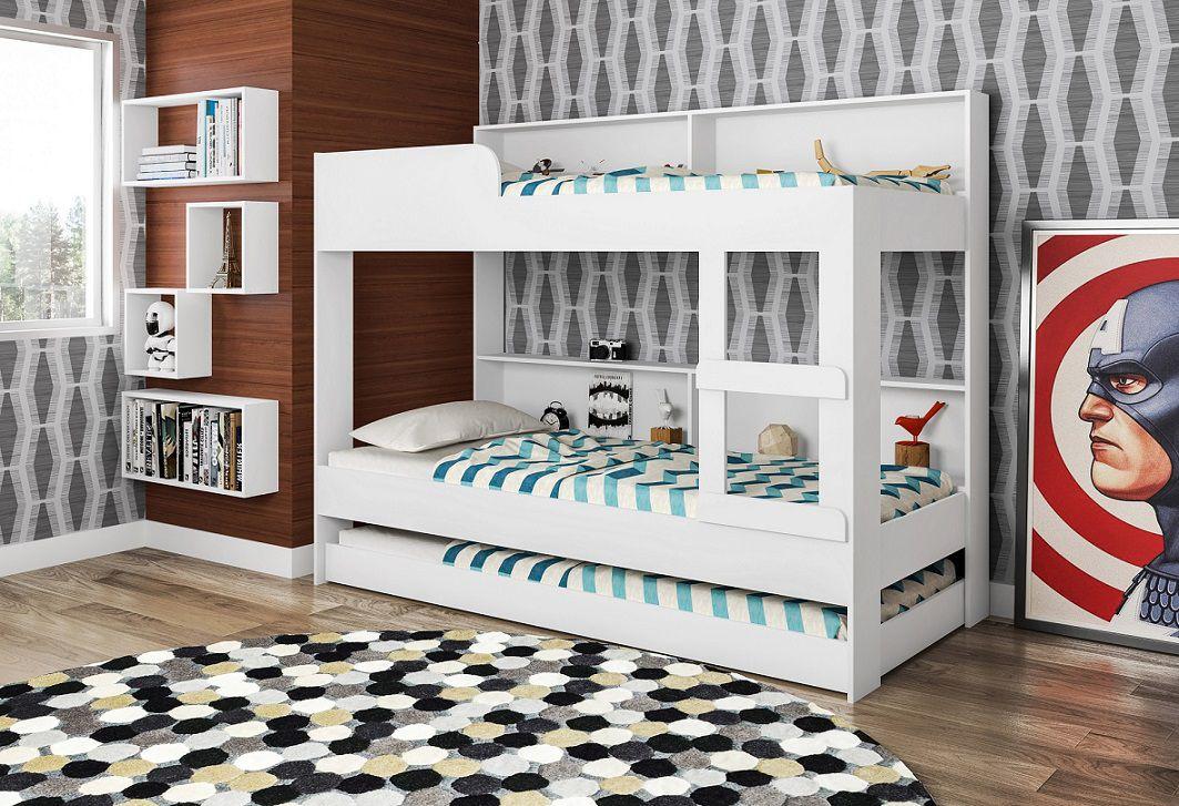 Treliche Com Estante Miami Branco - Art In Móveis