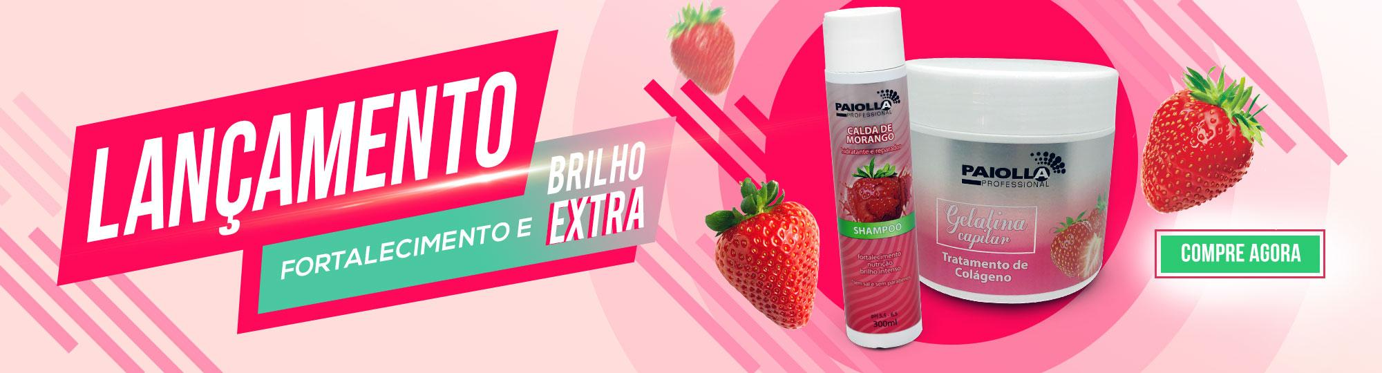 Shampoo Gelatina - Calda de Morango
