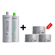 COMBO 1 Kit Progressiva Ctim 1L + 1 Shampoo + 3 Btx Argan 3D 150g