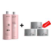 COMBO 1 Kit Progressiva Liss Ciare Bambu 1L + 1 Shampoo + 3 Botox Argan 3D 150g
