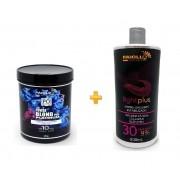 COMBO Pó Descolorante Power Blond Plus Platinum 500g + Creme Oxidante Estabilizado 30 volumes