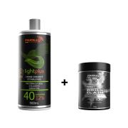 COMBO Pó Descolorante Power White Flash 500g + Creme Oxidante Estabilizado 40 volumes 900ml
