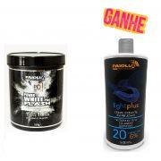 COMBO Pó Descolorante Power White Flash 500g + OX 20 Volumes GRÁTIS