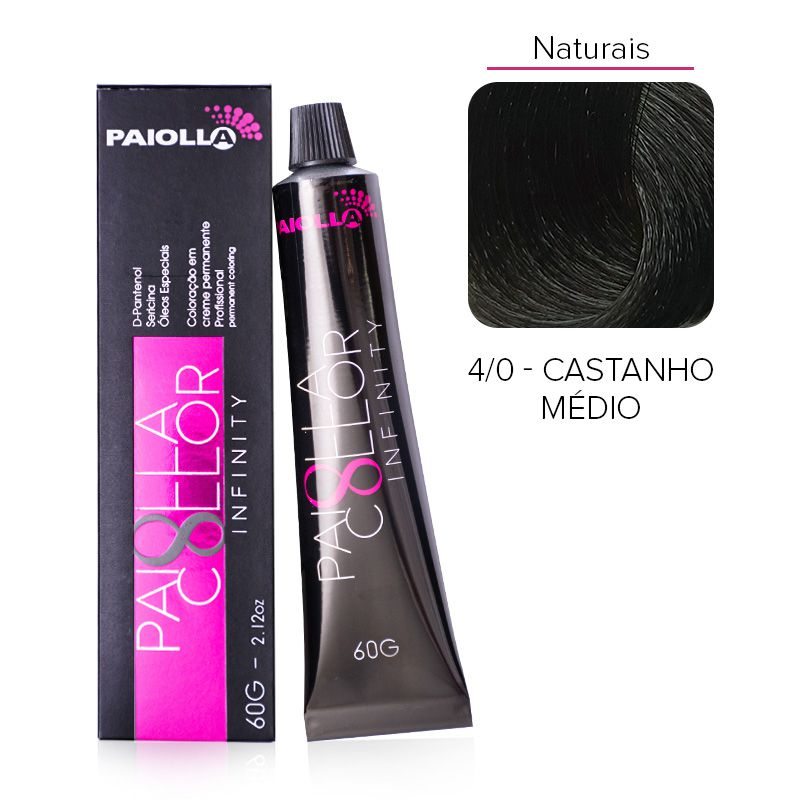 4.0 Castanho Médio - Coloração Paiolla Collor Infinity
