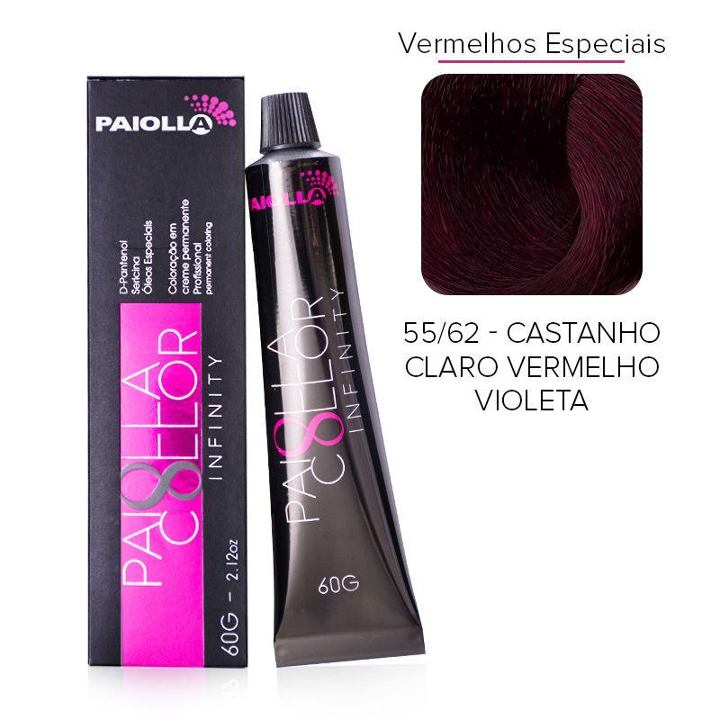 55.62 Castanho Claro Vermelho Violeta - Coloração Paiolla Collor Infinity