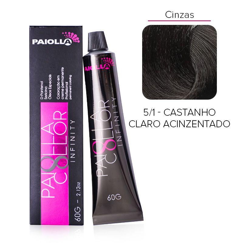 5.1 Castanho Claro Acinzentado - Coloração Paiolla Collor Infinity