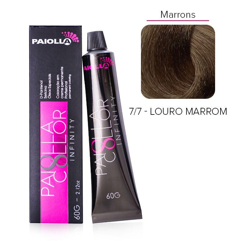 7.7 Louro Marrom - Coloração Paiolla Collor Infinity