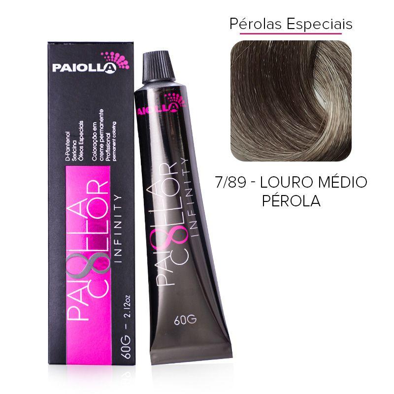 7.89 Louro Médio Pérola - Coloração Paiolla Collor Infinity