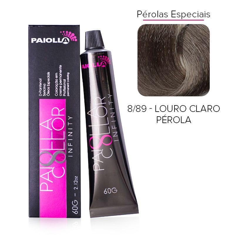 8.89 Louro Claro Pérola - Coloração Paiolla Collor Infinity