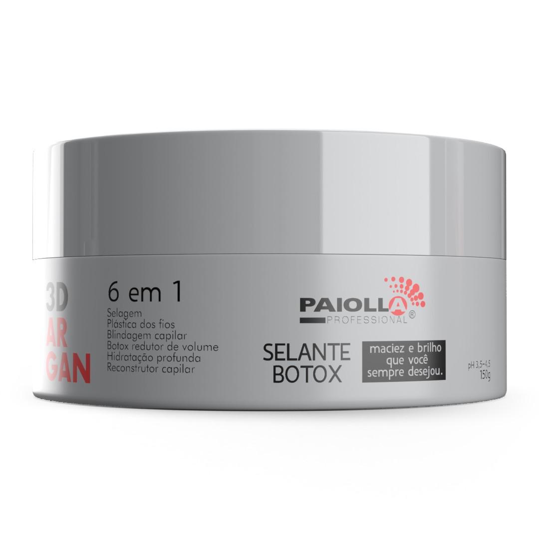 COMBO 1 Kit Progressiva Biotina e Colágeno 1L + 1 Shampoo + 3 Botox Argan 3D 150g