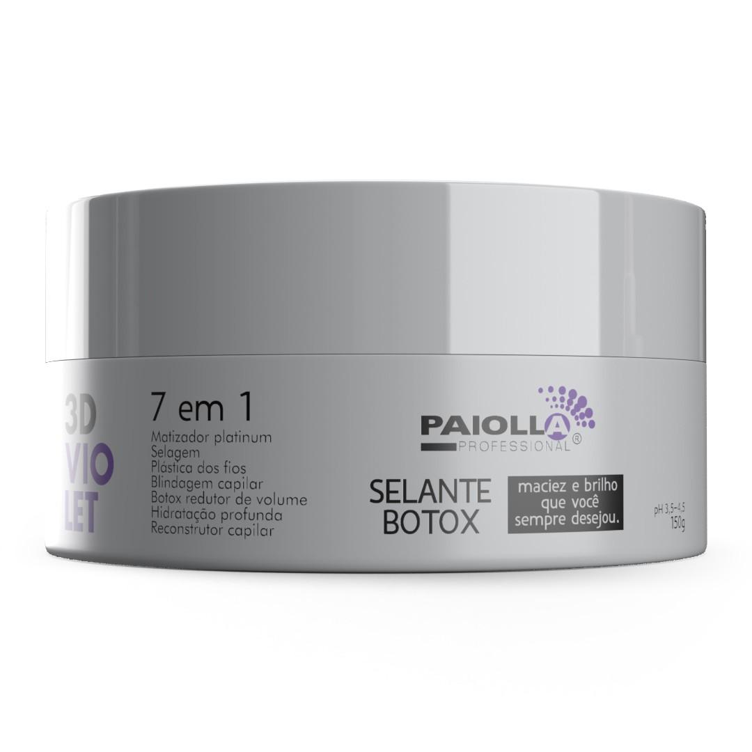 COMBO 1 Kit Progressiva Biotina e Colágeno 1L + 1 Shampoo + 3 Botox Violet 3D 150g