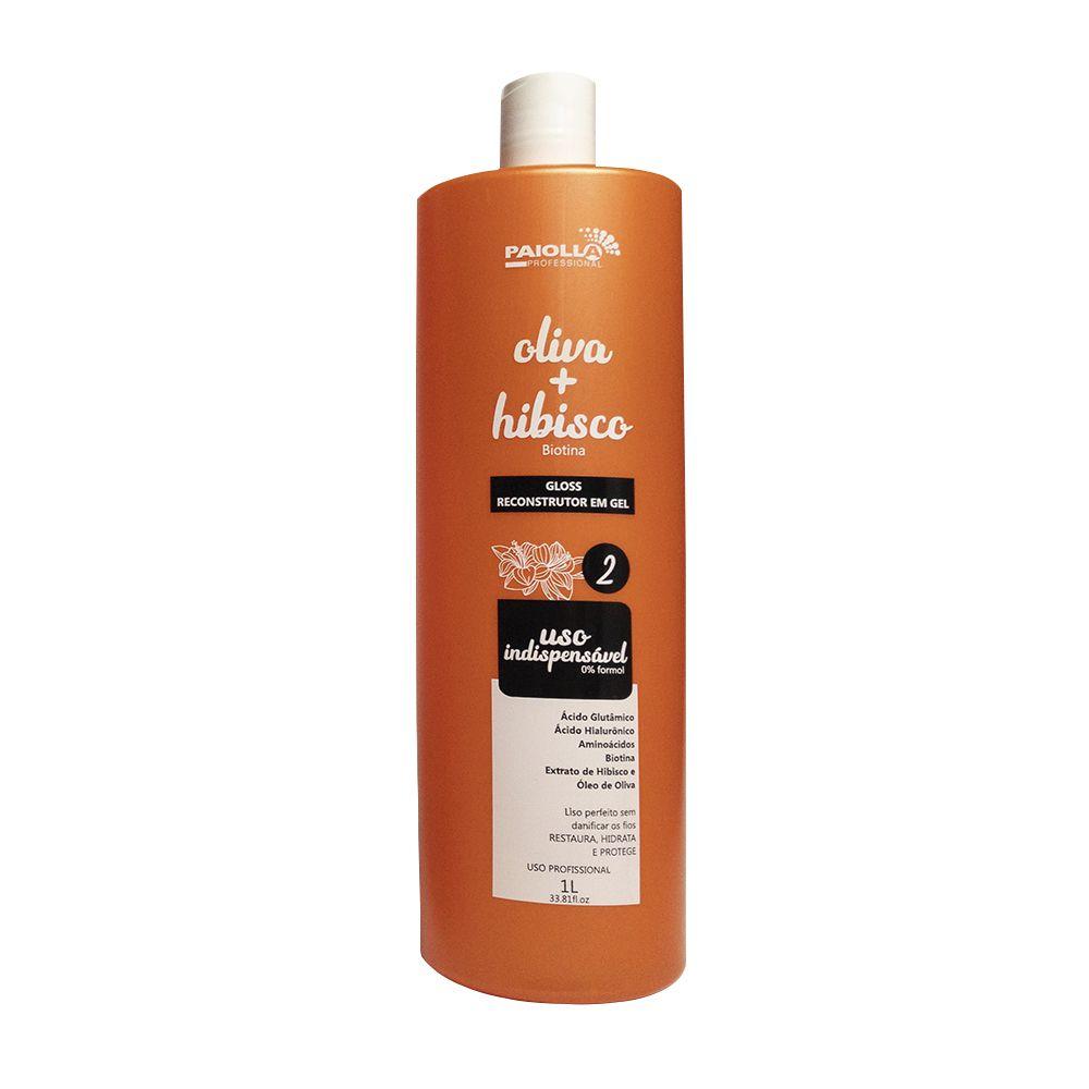 COMBO 3 Gloss Reconstrutor Oliva e Hibisco em gel + 3 shampoo prepaprador