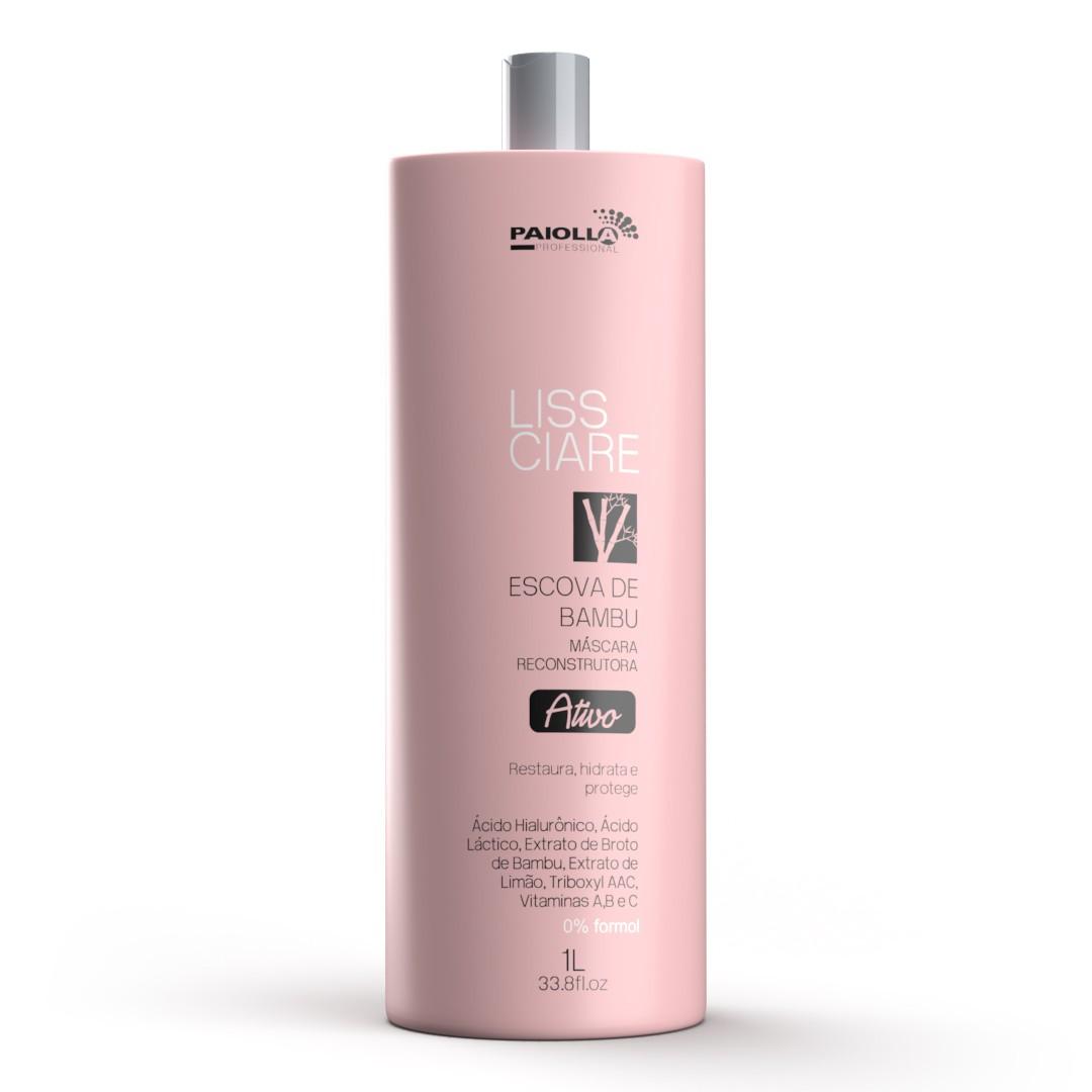 COMBO Escova Progressiva Bambu  Sem Formol + Shampoo  Detangling