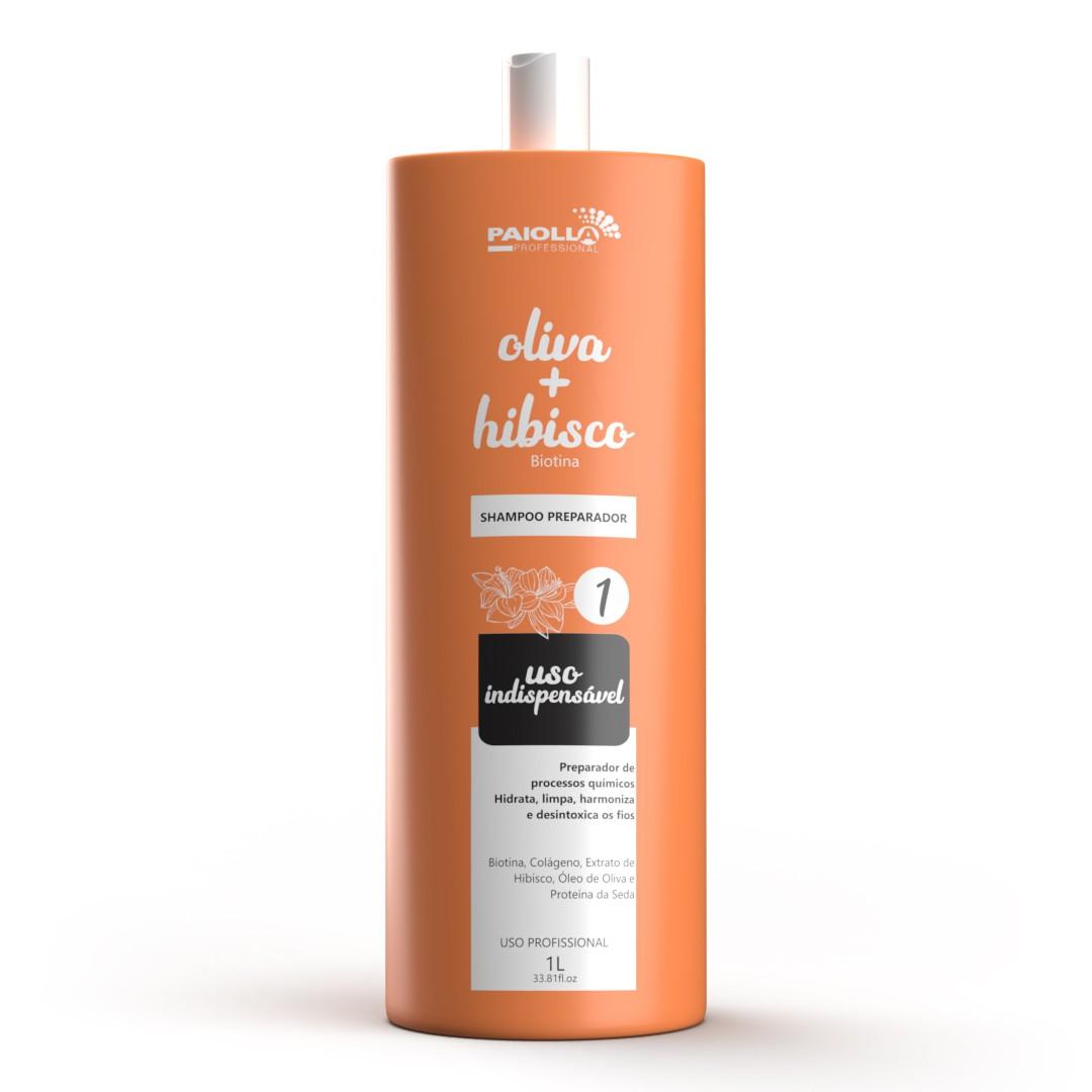 COMBO Escova Progressiva Oliva e Hibisco em Gel + Shampoo Preparador + Fluído Liso Toque Mágico 300ml