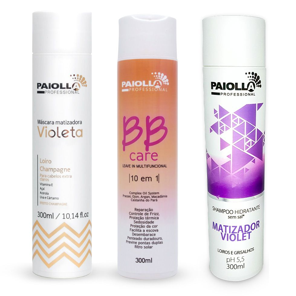 COMBO Loiro Dourado - Shampoo + Matizador + BB Care