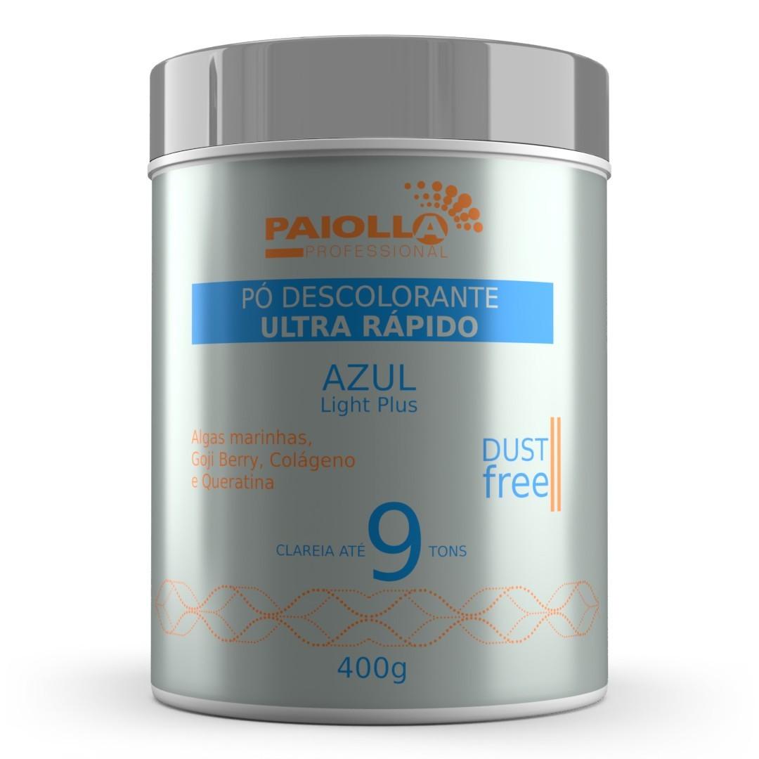 COMBO Pó Descolorante Azul 9 tons + Creme Oxidante Estabilizado 30 volumes