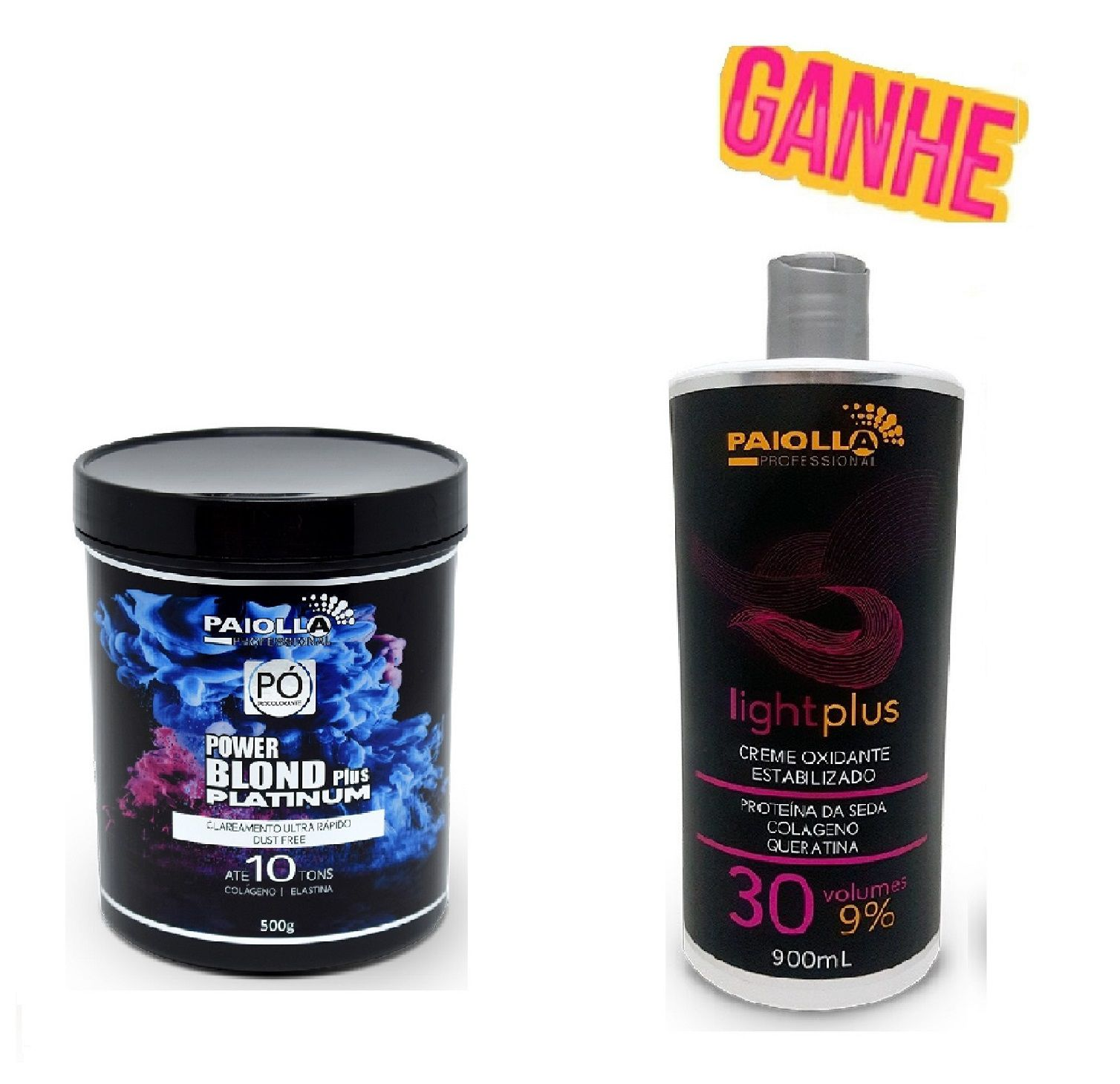 COMBO Pó Descolorante Power Blond Plus Platinum 500g + OX 30 Volumes GRÁTIS