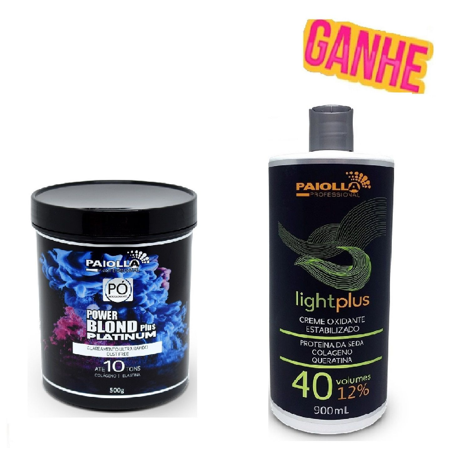 COMBO Pó Descolorante Power Blond Plus Platinum 500g + OX 40 Volumes GRÁTIS