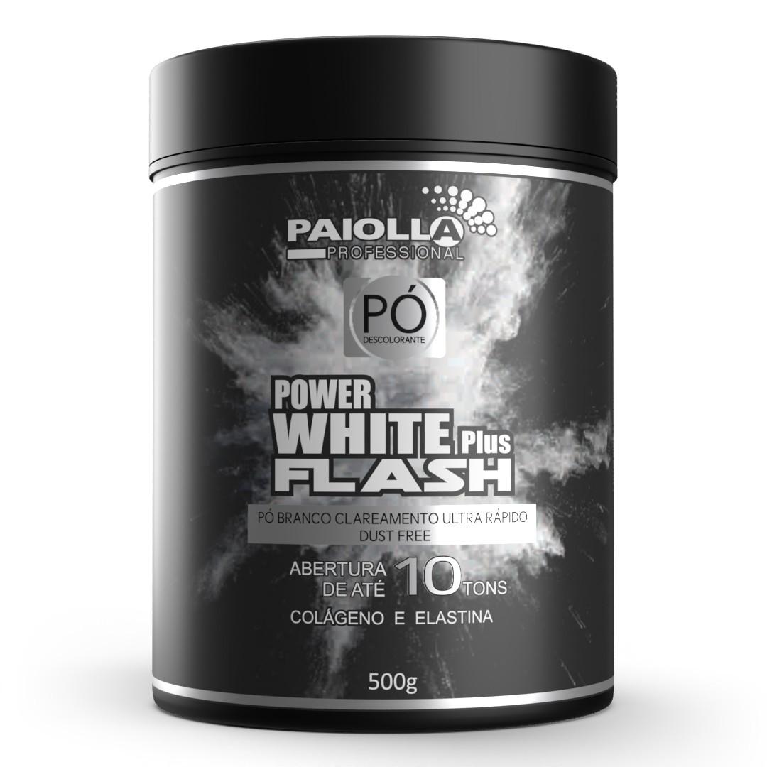 COMBO Pó Descolorante Power White Flash 500g + OX 20 Volumes