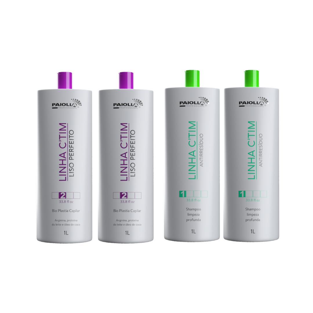 COMBO PROFISSIONAL 2 Progressiva Ctim 1L + 2 Shampoo Antirresíduo Ctim 1L